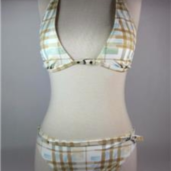 fe963fad0080a Burberry Swim | Beige Nova Check Bikinisuit Sz S | Poshmark